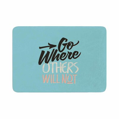Juan Paolo Go Where Others Will Not Vintage Memory Foam Bath Rug Size: 0.5 H x 24 W x 36 D