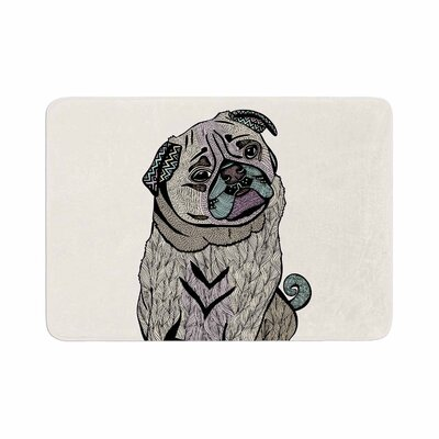 Pom Graphic Design Ares the Pug Memory Foam Bath Rug Size: 0.5 H x 17 W x 24 D