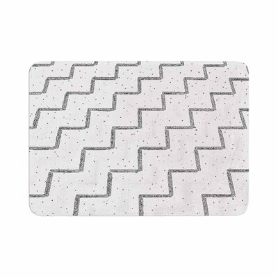 Richard Casillas Speckled ZigZag Memory Foam Bath Rug Size: 0.5 H x 17 W x 24 D
