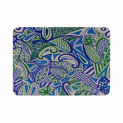 Rosie Zentangle Memory Foam Size: 0.5 H x 17 W x 24 D