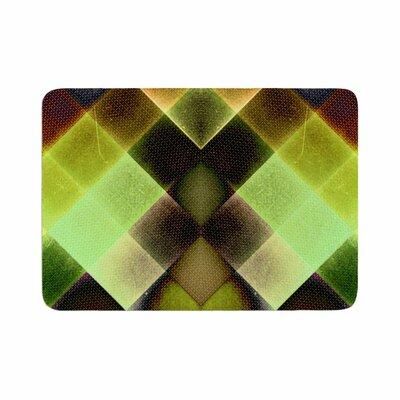 Pia Schneider Colorful Squares Memory Foam Bath Rug Size: 0.5 H x 17 W x 24 D