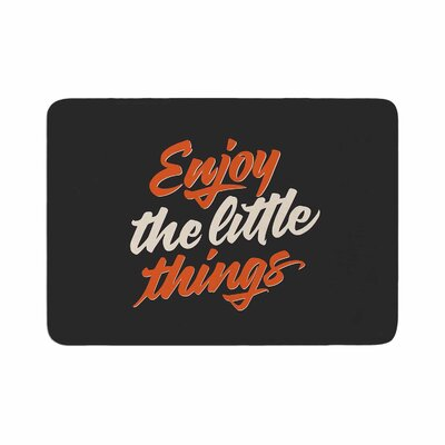 Juan Paolo Enjoy the Little Things Vintage Memory Foam Bath Rug Size: 0.5 H x 17 W x 24 D