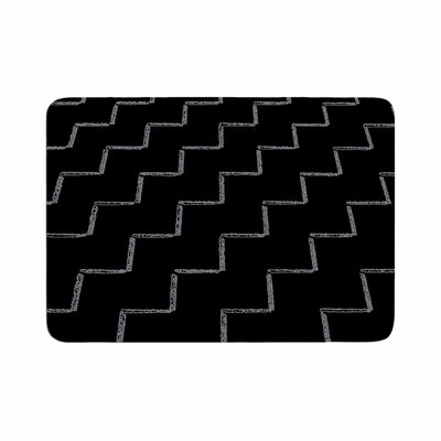 Richard Casillas ZigZags Night Memory Foam Bath Rug Size: 0.5