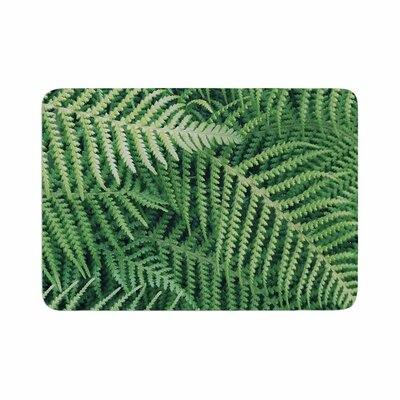 Richard Casillas Ferns Memory Foam Bath Rug Size: 0.5 H x 24 W x 36 D