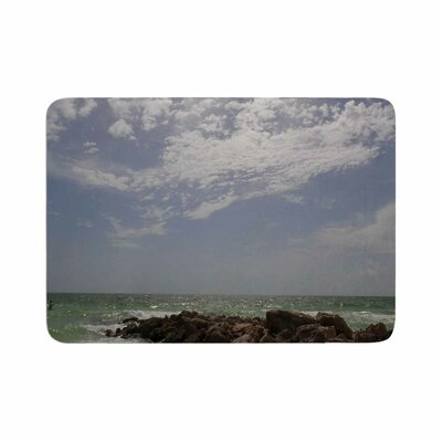 Rosie Clouds Coastal Photography Memory Foam Bath Rug Size: 0.5 H x 17 W x 24 D