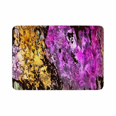 Rosie Garden Glows Memory Foam Bath Rug Size: 0.5 H x 24 W x 36 D
