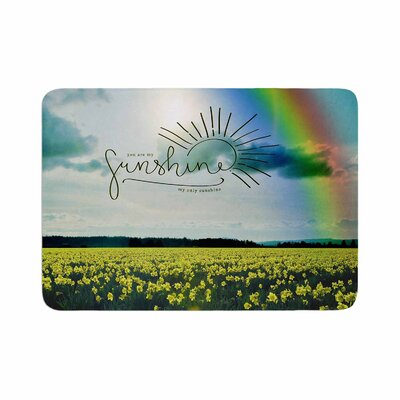 Robin Dickinson You Are My Sunshine,Rainbow Memory Foam Bath Rug Size: 0.5 H x 17 W x 24 D