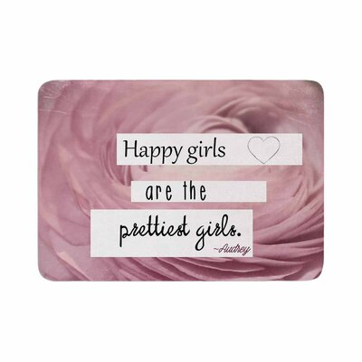 Robin Dickinson Happy Girls Memory Foam Bath Rug Size: 0.5 H x 17 W x 24 D