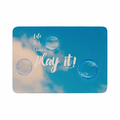 Robin Dickinson Life Is a Game Photography Memory Foam Bath Rug Size: 0.5 H x 17 W x 24 D