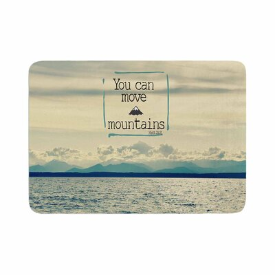 Robin Dickinson You Can Move Mountains Photography Memory Foam Bath Rug Size: 0.5 H x 17 W x 24 D
