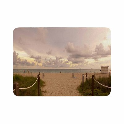 Rosie Walkway to Heaven Coastal Photography Memory Foam Bath Rug Size: 0.5 H x 24 W x 36 D