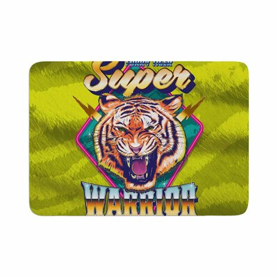 Roberlan Super Furry Tiger Warrior Memory Foam Bath Rug Size: 0.5 H x 17 W x 24 D