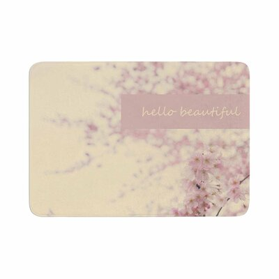 Robin Dickinson Hello Beautiful Typography Memory Foam Bath Rug Size: 0.5 H x 17 W x 24 D