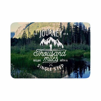 Robin Dickinson the Journey Photography Memory Foam Bath Rug Size: 0.5 H x 17 W x 24 D