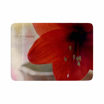 Robin Dickinson Count Your Blessings Floral Memory Foam Bath Rug Size: 0.5 H x 17 W x 24 D