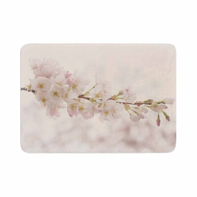 Robin Dickinson Its That Time Floral Photography Memory Foam Bath Rug Size: 0.5 H x 24 W x 36 D
