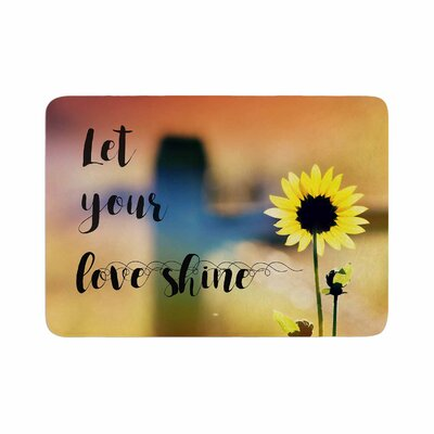 Robin Dickinson Let Your Love Shine Photography Memory Foam Bath Rug Size: 0.5 H x 24 W x 36 D