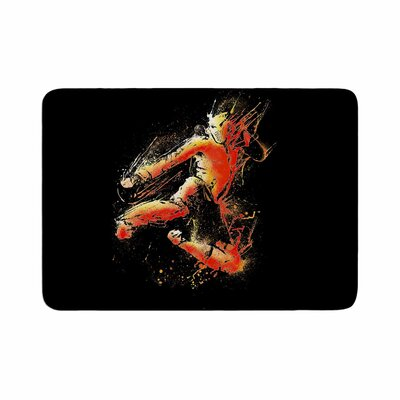 BarmalisiRTB Strong Fighter Memory Foam Bath Rug Size: 0.5 H x 17 W x 24 D