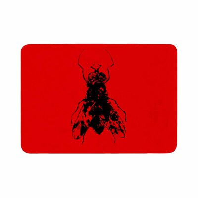 BarmalisiRTB the Fly Memory Foam Bath Rug Size: 0.5 H x 17 W x 24 D