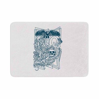 BarmalisiRTB Tidal Wave Illustration Memory Foam Bath Rug Size: 1 H x 24 W x 36 D