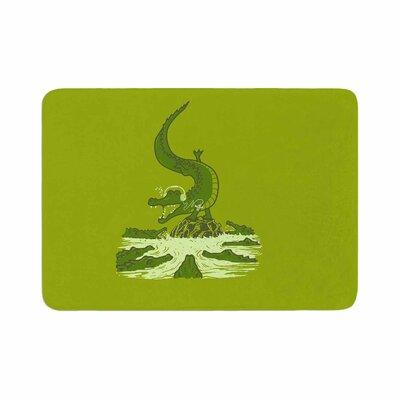 BarmalisiRTB Breakdance Crocodile Memory Foam Bath Rug Size: 1 H x 24 W x 36 D