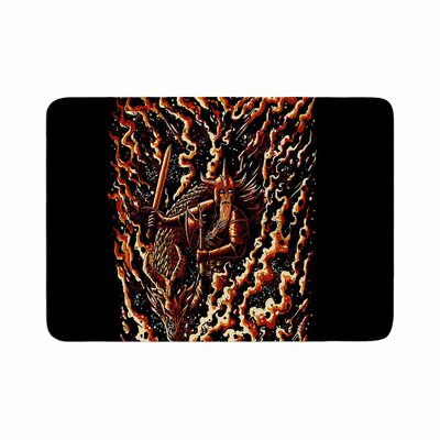 BarmalisiRTB Defense Abstract Memory Foam Bath Rug Size: 0.5 H x 17 W x 24 D