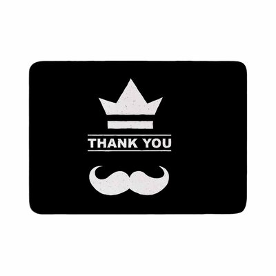 BarmalisiRTB Thank You Memory Foam Bath Rug Size: 0.5 H x 17 W x 24 D