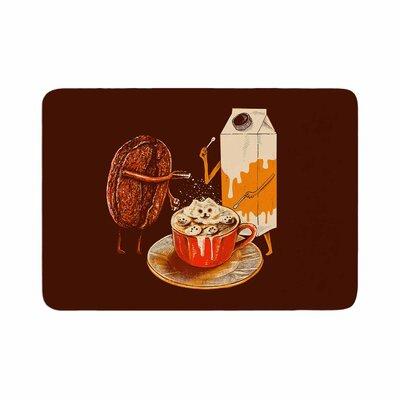 BarmalisiRTB Latte Art Illustration Memory Foam Bath Rug Size: 0.5 H x 17 W x 24 D