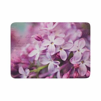 Sylvia Cook French Lilacs Photography Memory Foam Bath Rug Size: 0.5 H x 17 W x 24 D