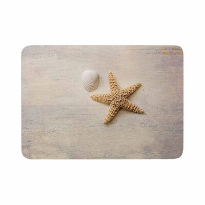 Sylvia Cook Starfish and Shell Vector Memory Foam Bath Rug Size: 0.5 H x 24 W x 36 D
