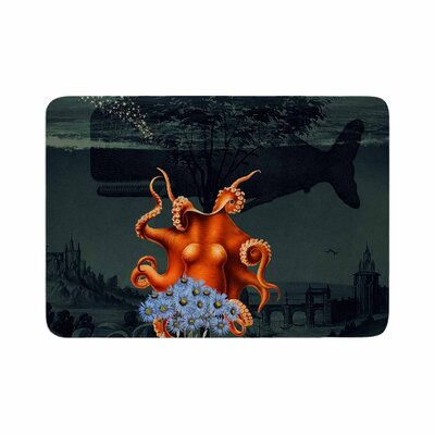 Suzanne Carter Under the Deep Sea Memory Foam Bath Rug Size: 0.5 H x 17 W x 24 D