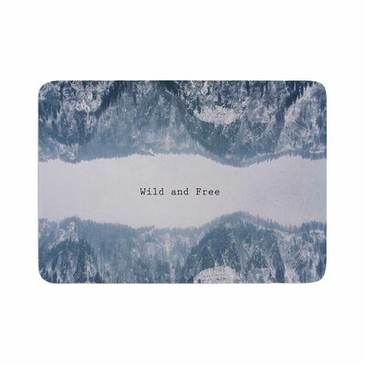 Suzanne Carter Wild and Free Digital Memory Foam Bath Rug Size: 0.5 H x 17 W x 24 D