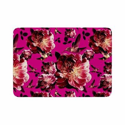 Shirlei Patricia Muniz Floral Magenta Photography Memory Foam Bath Rug Size: 0.5 H x 24 W x 36 D