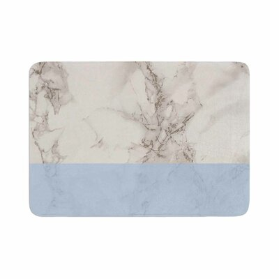 Suzanne Carter Marble and Block Modern Memory Foam Bath Rug Size: 0.5 H x 17 W x 24 D