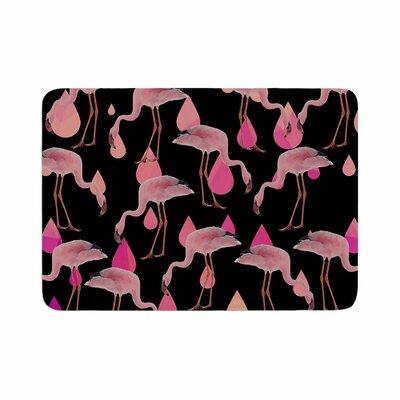 Suzanne Carter Flamingo Rain Digital Memory Foam Bath Rug Size: 0.5 H x 17 W x 24 D