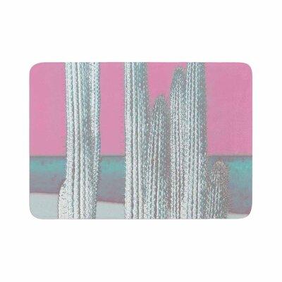 Suzanne Carter Cactus Digital Memory Foam Bath Rug Size: 0.5 H x 17 W x 24 D, Color: Pink