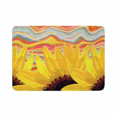 Suzanne Carter Sunflower Dreaming Memory Foam Bath Rug Size: 0.5 H x 17 W x 24 D