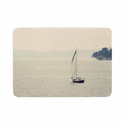 Sylvia Coomes Hazy Sea Travel Memory Foam Bath Rug Size: 0.5 H x 24 W x 36 D