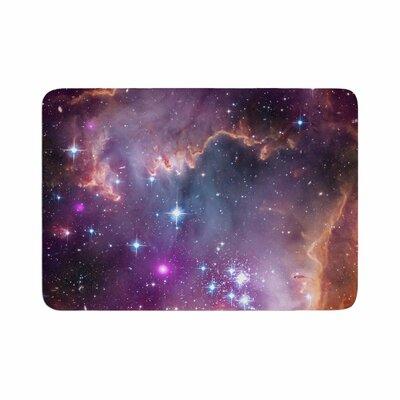 Suzanne Carter Cosmic Cloud Celestial Memory Foam Bath Rug Size: 0.5 H x 17 W x 24 D