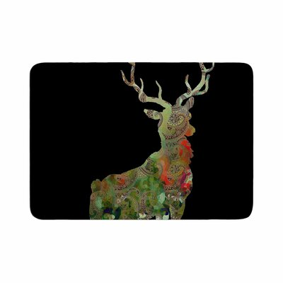Suzanne Carter Paisley Deer Abstract Memory Foam Bath Rug Size: 0.5 H x 24 W x 36 D