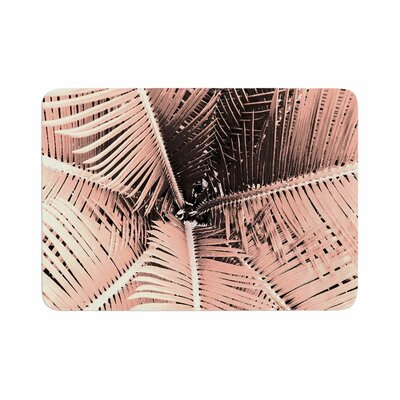 Suzanne Carter Palm Memory Foam Bath Rug Size: 0.5 H x 24 W x 36 D, Color: Peach