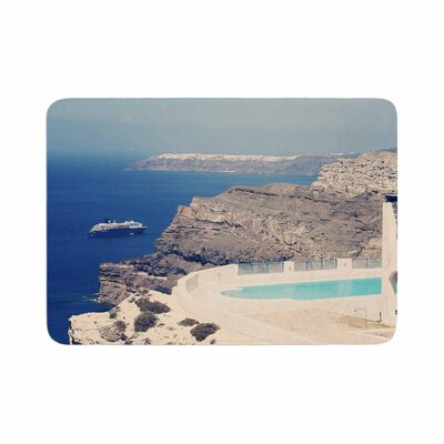 Sylvia Coomes Greek Paradise Memory Foam Bath Rug Size: 0.5 H x 17 W x 24 D