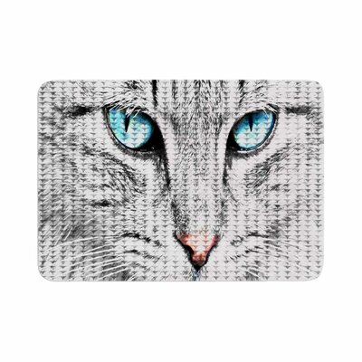 Suzanne Carter Cat Digital Memory Foam Bath Rug Size: 0.5 H x 24 W x 36 D