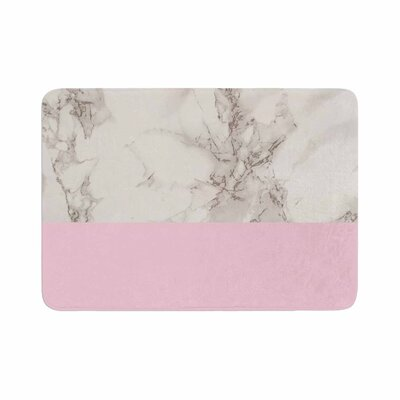 Suzanne Carter Marble and Block Modern Contemporary Memory Foam Bath Rug Size: 0.5 H x 17 W x 24 D