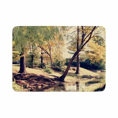 Sylvia Coomes Walk in the Park Photography Memory Foam Bath Rug Size: 0.5 H x 24 W x 36 D