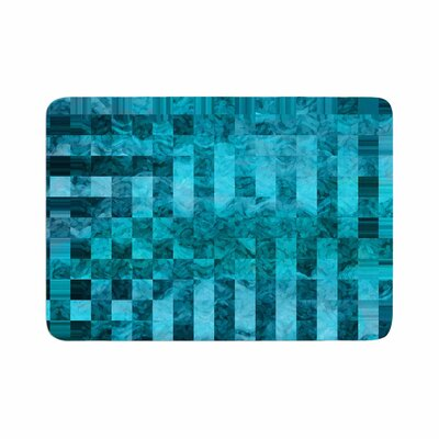 Suzanne Carter Mosaic Ocean Pattern Memory Foam Bath Rug Size: 0.5 H x 24 W x 36 D
