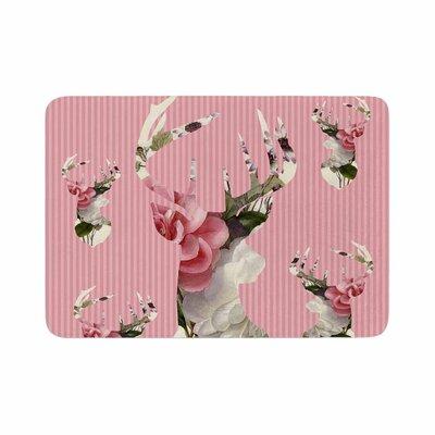 Suzanne Carter Floral Deer Memory Foam Bath Rug Size: 0.5 H x 24 W x 36 D