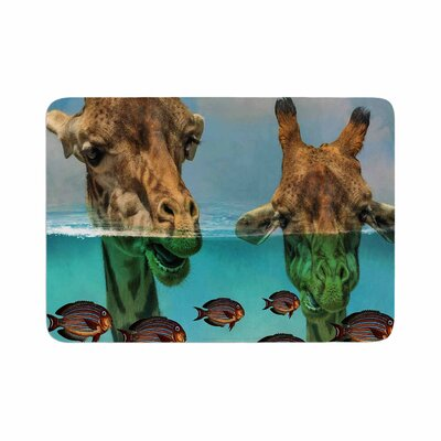 Suzanne Carter Larry and Fred Periscope Mixed Media Animals Memory Foam Bath Rug Size: 0.5 H x 24 W x 36 D