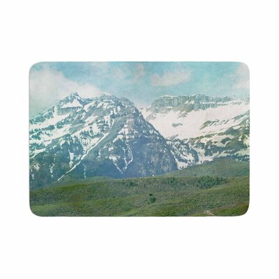 Sylvia Coomes Mountains Memory Foam Bath Rug Size: 0.5 H x 24 W x 36 D