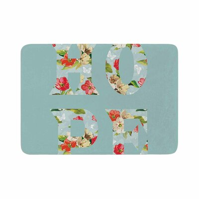 Suzanne Carter Hope Floral Memory Foam Bath Rug Size: 0.5 H x 17 W x 24 D